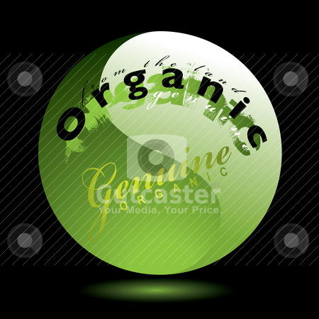 Gel organics stock vector clipart, Gel round icon with drop shadow glow and organics theme by Michael Travers