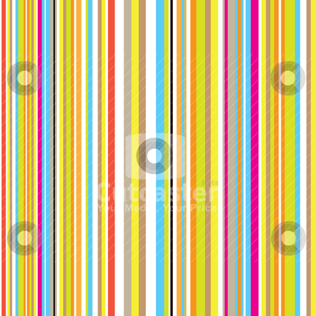 Candy stripe retro stock vector clipart, Candy inspired striped background with retro effect with rainbow colours by Michael Travers