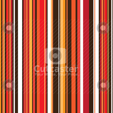 Autumn stripe retro stock vector clipart, Vertical striped abstract background with autumn colours with seamless design by Michael Travers