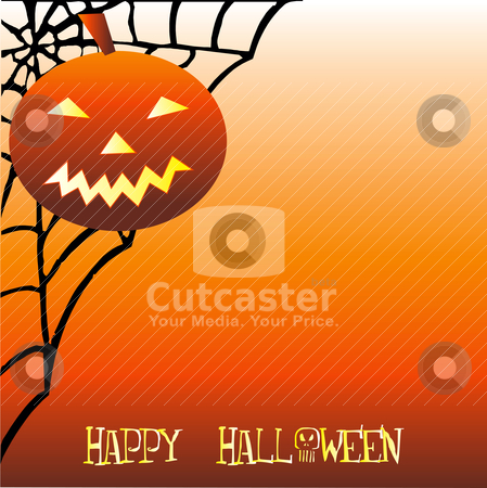 Halloween Background stock vector clipart, Vector that can be used as wallpaper, template or anything else. by Basheera Hassanali