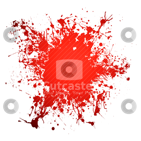 Blood curddle stock vector clipart, Red blood ink splat with room to add your own copy by Michael Travers