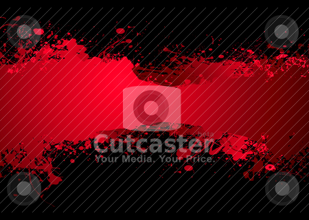 Blood banner dark stock vector clipart, Bright blood red ink banner with room to add your own text by Michael Travers