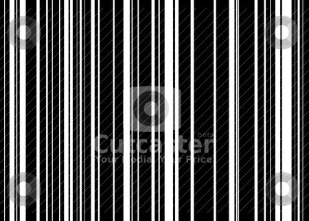 Barcode abstract stock vector clipart, Black and white abstract striped background with barcode effect by Michael Travers