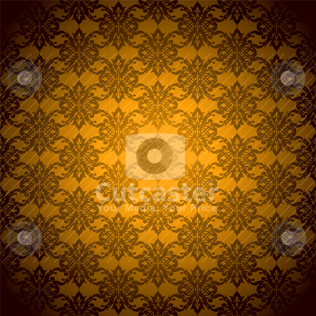 Orange mist wallpaper stock vector clipart, Orange and black abstract background with seamless repeat design by Michael Travers