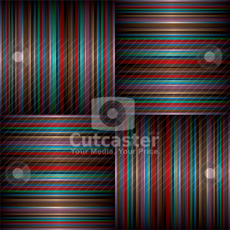 Large stripe weave stock vector clipart, Multi coloured abstract striped background with candy colours by Michael Travers