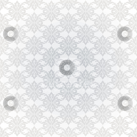 Grey interlink wallpaper stock vector clipart, White and grey seamless wallpaper with repeating design by Michael Travers
