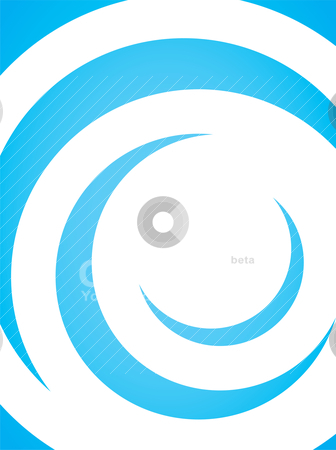 Curly Vector Layout stock vector clipart, A simple blue vector layout with curling swoosh lines in a spiral shape. by Todd Arena