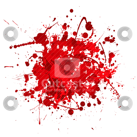 Blood bundle stock vector clipart, Blood red abstract background with 3d effect in ball shape by Michael Travers