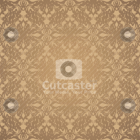 Silk gold stock vector clipart, Golden abstract wallpaper pattern with seamless repeat design by Michael Travers