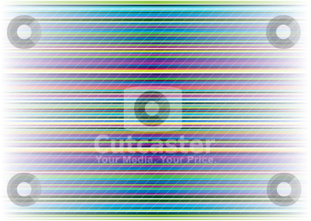 Pale neon stripe stock vector clipart, Abstract horizontal stripes with a rainbow of colours and pale background by Michael Travers