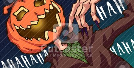 Jack O Lantern stock vector clipart, Jack O lantern laughing by Kuswanto Kuswanto