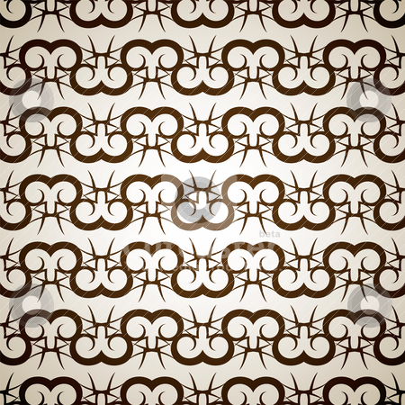 Brown ram stock vector clipart, Abstract background with interlinking modern design that seamlessly repeats by Michael Travers