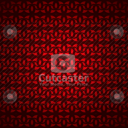 Warm red diamond stock vector clipart, Red and black interlinked seamless repeat background pattern by Michael Travers