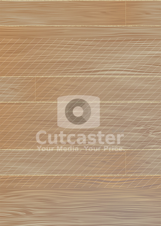 Pale wood grain stock vector clipart, Abstract wooden floor background with planks and joins by Michael Travers