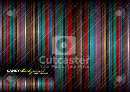 Candy bground stock vector clipart, Subtle striped abstract background with flowing ribbon effect and copyspace by Michael Travers