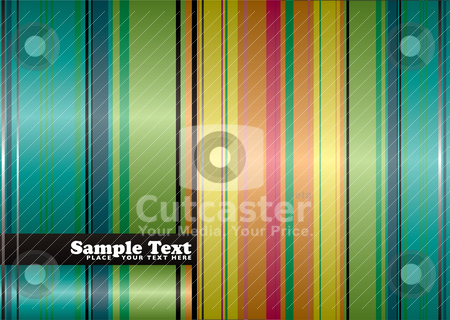 Rainbow natural stock vector clipart, Natural autumn ribbon background with rainbow stripes and copyspace by Michael Travers