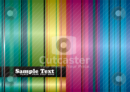 Rainbow space background stock vector clipart, Brightly coloured abstract background with space to add your own text by Michael Travers