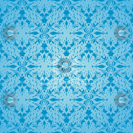 Silk cyan stock vector clipart, Classy blue wallpaper background with seamless repeat design by Michael Travers