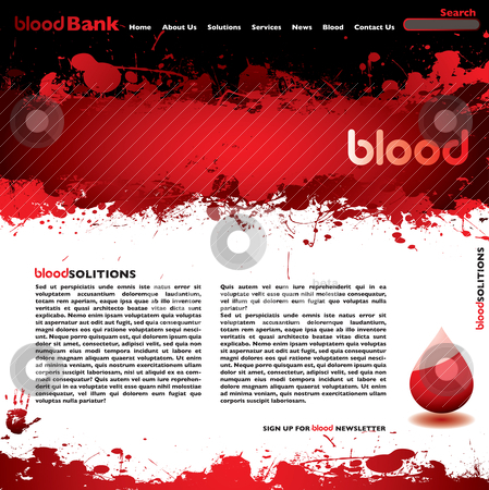 Blood web white stock vector clipart, Abstract blood concept background with room to add your own text by Michael Travers