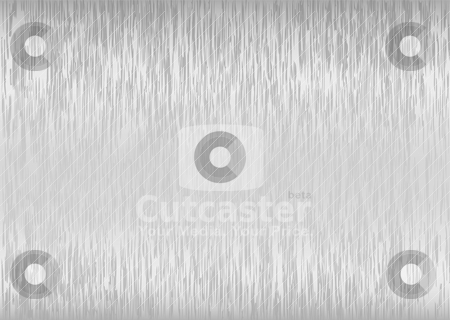 Brushed silver backdrop stock vector clipart, Abstract silver brushed backdrop with light reflection and grain by Michael Travers