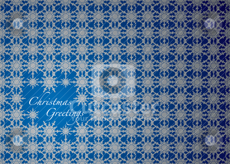 Christmas greetings stock vector clipart, Abstract snowflake christmas background with room to add you own copy by Michael Travers