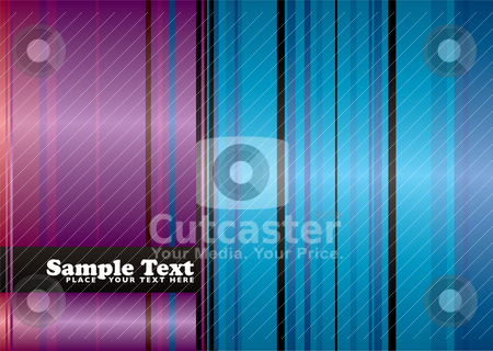 Rainbow ribbon red stock vector clipart, Abstract red and blue ribbon background with room to add your text by Michael Travers