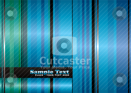 Never to be seen stock vector clipart, Green and blue abstract ribbon with flowing lines background by Michael Travers