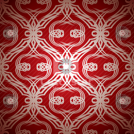 Tattoo red stock vector clipart, Red and silver seamless repeating abstract background pattern by Michael Travers