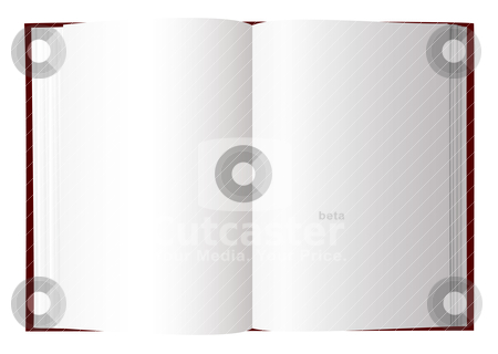Open book stock vector clipart, Open book with white pages and room to add text by Michael Travers