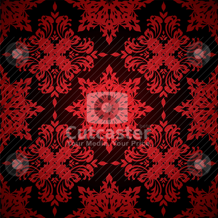 Wallpaper blood red stock vector clipart, Bright red seamless abstract background with repeat design by Michael Travers