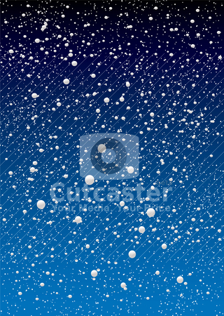 Snowflake sky stock vector clipart, Christmas snow flake sky background with blue gradient by Michael Travers