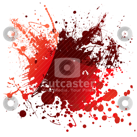 Blood red reflection stock vector clipart, Abstract red blood background with light reflection and splatter by Michael Travers