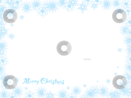 Snowflake christmas white stock vector clipart, Snow fall white background with room to add your own text by Michael Travers