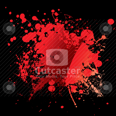 Blood red black stock vector clipart, Abstract blood red background with grunge ink effect by Michael Travers