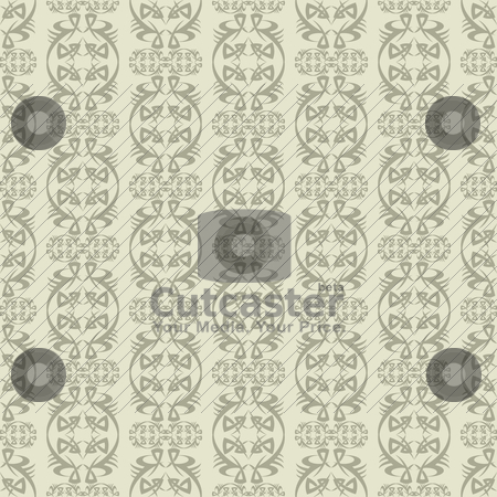 Beige wallpaper stock vector clipart, Two tone beige wallpaper background with seamless repeating design by Michael Travers