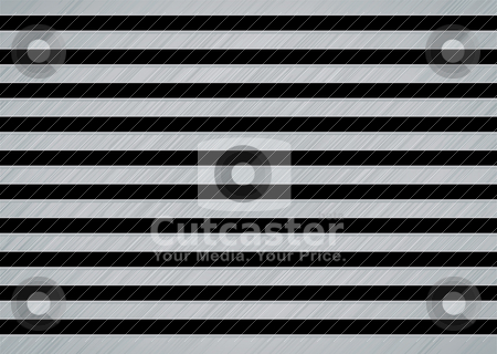 Brushed metal slat stock vector clipart, Brushed metal background with slats and brushed effect by Michael Travers