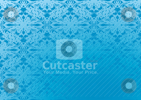 Blue wallpaper gradient stock vector clipart, Blue wallpaper design with area for text and repeat design by Michael Travers