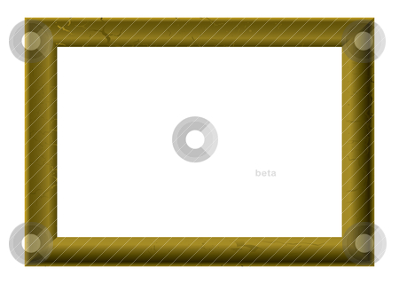 Golden picture frame stock vector clipart, Golden wood picture frame with room to add your own image by Michael Travers
