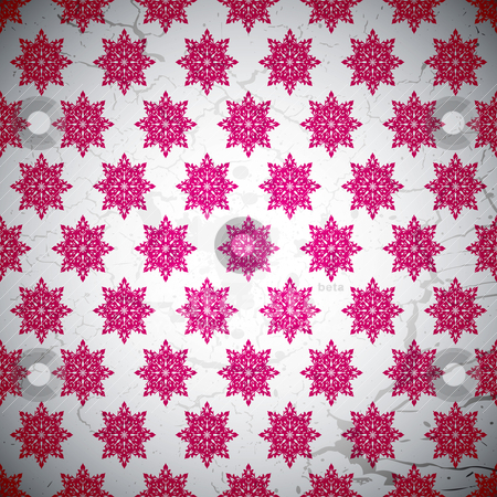 Wallaper star stock vector clipart, Seamless repeat magenta pattern with grunge style illustration effect by Michael Travers