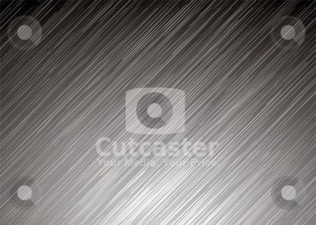 Dark metal surface stock vector clipart, Illustrated silver metal background with brushed grain surface by Michael Travers