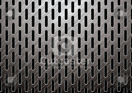 Dark metal slot stock vector clipart, Dark brushed metal background with oblong slot and bevel edge by Michael Travers