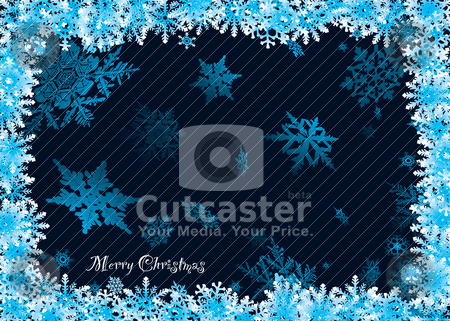 Snowflake 3d stock vector clipart, Christmas snowflake background with 3d effect and room to add text by Michael Travers