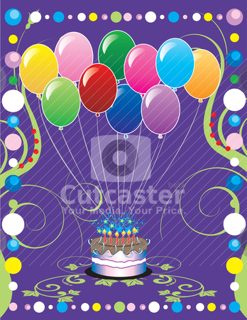 Party Cover stock vector clipart, This can be used as a book cover, card or anything you choose. There is room for your text. by Basheera Hassanali