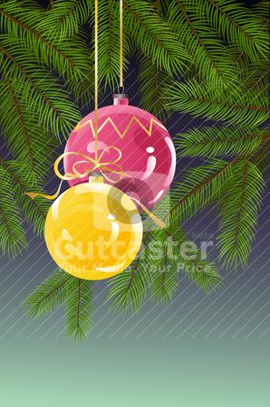 Christmas background stock vector clipart,  by Vitaliya Piliuhina