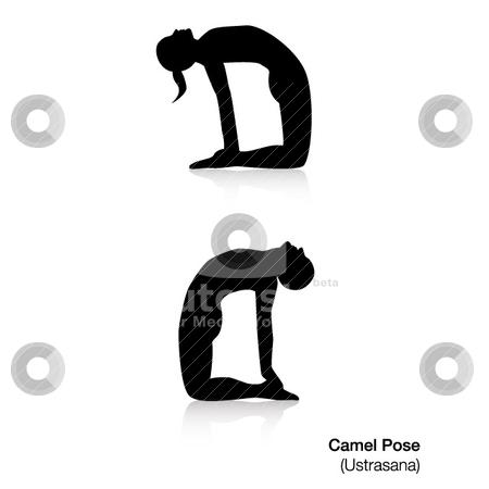 camel pose yoga stock vector