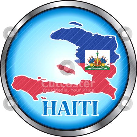 Haiti Round Button stock vector clipart, Vector Button Icon for Haiti. by Basheera Hassanali