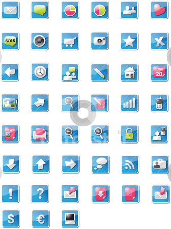 Web 2.0 icons stock vector clipart,  by Tobias Bj?