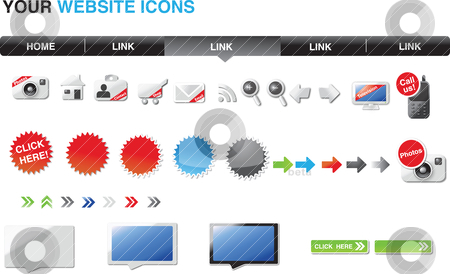 Your website graphics stock vector clipart,  by Tobias Bj?