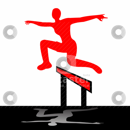 Jumping woman illustration stock vector clipart, Jumping woman, vector art illustration; more drawings in my gallery by Laschon Robert Paul