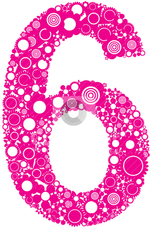 Number 6 Stock Vector